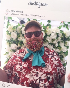 Glastonbury Festival 2019 - Flower Beard.