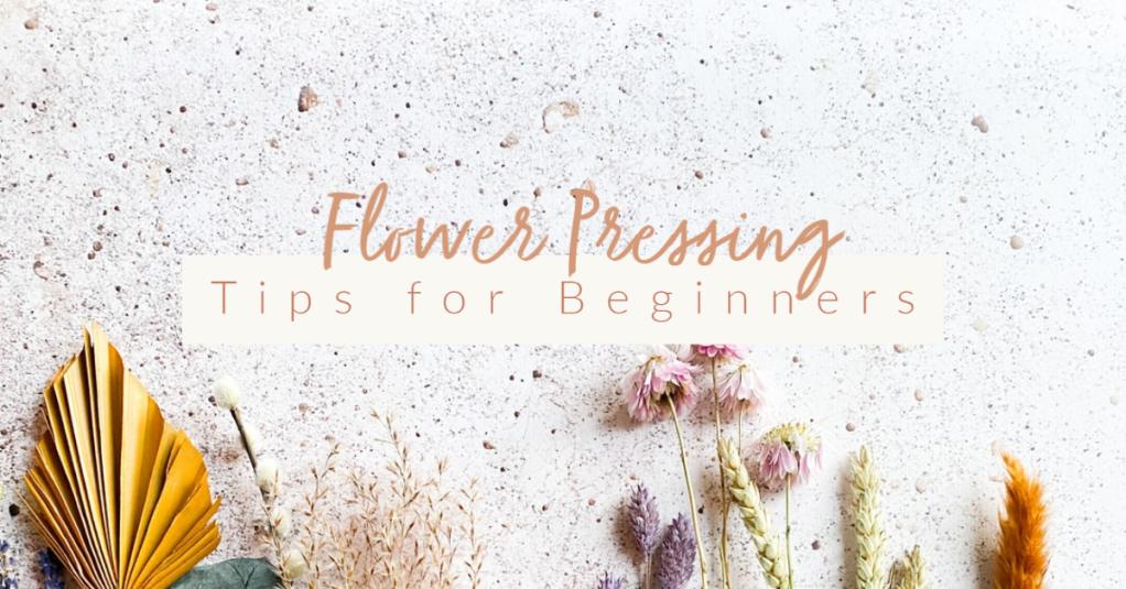 Flower Pressing Tips for Beginners